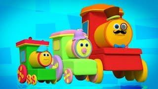 Боб Поезд палец Семья | палец семьи рифмы | Bob Train Song | Kids Rhyme | Train Finger Family