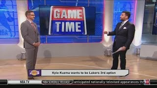 Jared Greenberg SURPRISED Kyle Kuzma wants to be Lakers 3rd option over Danny Green and Cousins
