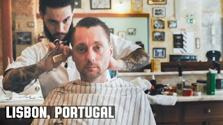 HairCut Harry's Lisbon Portugal HairCut Experience at Figaros Barbershop (ASMR)