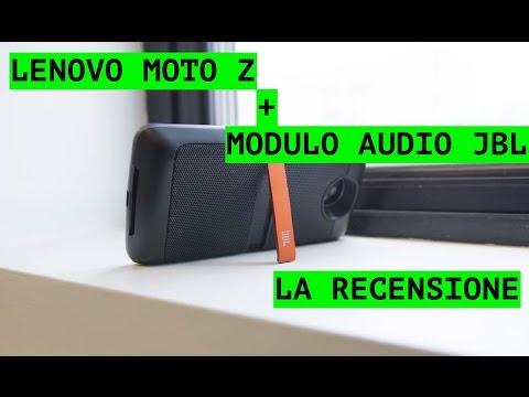Foto Recensione Lenovo Moto Z e modulo audio JBL