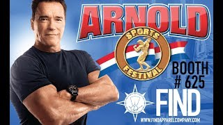 WE WILL BE AT THE ARNOLD!!!!!