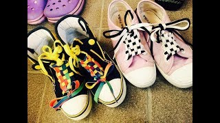 【DIY】スニーカーのお洒落な靴紐の結び方アレンジ10選♡~How To Tie Sneakers' Fashionable Shoelaces.