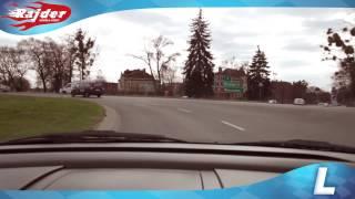 preview picture of video 'Rajder - Toruń trasa egzaminacyjna - zawracanie na rondzie Pokoju Toruńskiego - Kurs jazdy 2014'