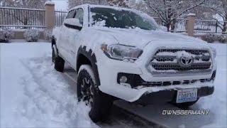 2017 Toyota Tacoma Snow Drive to Go PlaneSpotting