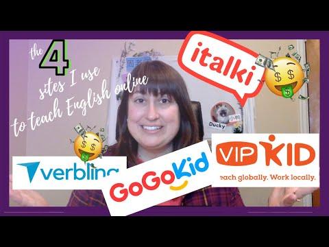 The 4 sites I use to make money teaching English online! -  pros/cons VIPkid GogoKid italki Verbling