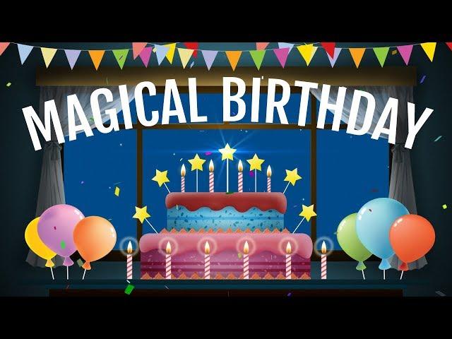 Magical Birthday Animation Video Happy