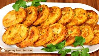 Cheesy Potato Croquettes From Italian Cuisine By Yummy Food Desires | Crispy Potato Patties Recipe