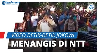 Video Detik-detik Jokowi Menangis Rasakan Duka Korban Bencana Alam di NTT, Ini Kesaksian Kepala Desa