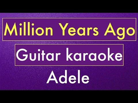 Million Years Ago - Adele | Karaoke Lyrics (Acoustic Guitar Karaoke) Instrumental