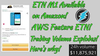 *Re-upload* Electroneum M1 Available on Amazon! AWS Feature ETN! Trade Volume Skyrockets!