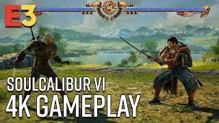 SoulCalibur VI 4K Gameplay - Geralt vs Mitsurugi | E3 2018