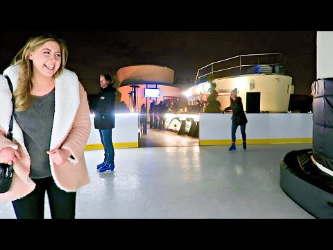 ROOFTOP ICE SKATING IN DC + HALOTOP GIVEAWAY! Vlogmas 15, 2017