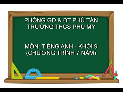 TIẾNG ANH 9 (7 NĂM) - Unit 8: Getting Started