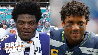 Lamar Jackson or Russell Wilson: Who is the more valuable QB? | First Take
