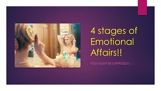 4 Stages of an emotional affair (2020)   Stages of emotional infidelity & emotional cheating