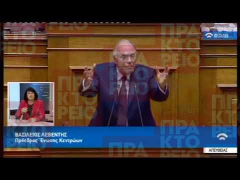 Β.Λεβέντης(Πρόεδρος Ένωσης Κεντρώων)(Συζήτηση προ Ημερ.Διατάξεως γιά την Οικονομία)(05/07/2018)