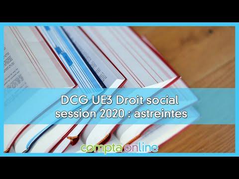 Sujet et corrigés du DCG 2020 - UE3 Droit social