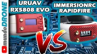 URUAV RX5808 EVO vs IMMERSIONRC RAPIDFIRE módulos para FPV