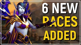 """6 NEW PLAYABLE RACES! WoW: Battle for Azeroth """"Allied Races"""" Preview!"""