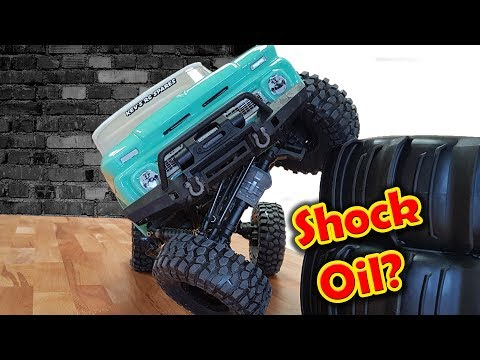 Traxxas Trx-4 Thinner Shock Oil Before VS After Epic Cheap Mod! RC CAR
