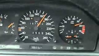 W124 500E 0 - 260 km/h