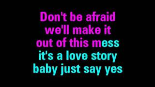 Love Story Taylor Swift Karaoke   You Sing The Hits