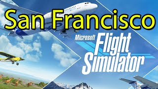 Microsoft Flight Simulator San Francisco Gameplay Tour 2020 [Xbox Game Pass] - Alcatraz, Golden Gate