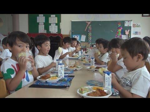 幼稚園で阿見グリーンメロンパン