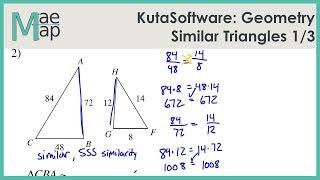 KutaSoftware: Geometry- Similar Triangles Part 1