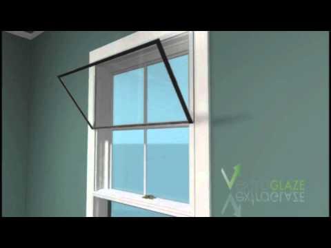 Extraglaze Secondary Glazing - Easy Open System