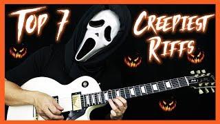 TOP 7 CREEPIEST GUITAR RIFFS - SCARY GUITAR RIFFS FOR HALLOWEEN 🎸🎃