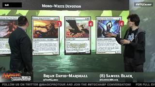 2015 Magic World Championship Deck Tech: White Devotion with Samuel Black