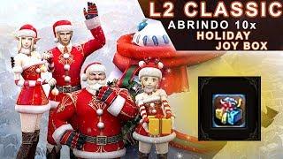 Abrindo 10 Caixas de Natal (Holiday Joy Box) da L2 Store, no Lineage 2 Classic Oficial Americano