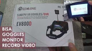 Unboxing Goggles Eachine EV800D DVR - Bisa Jadi Monitor FPV dan Bisa Record Video