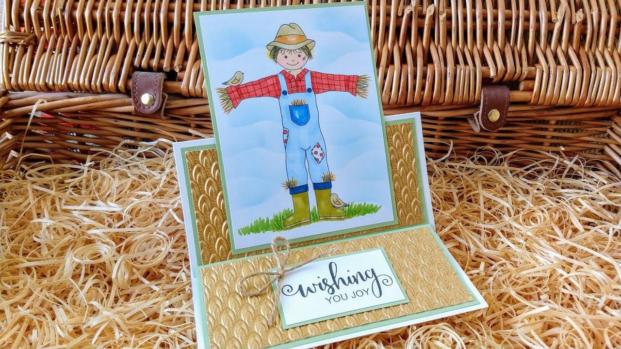 Scarecrow Easel Card