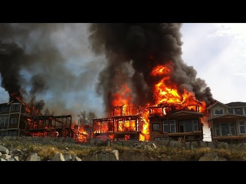 5 Houses destroyed in 40 minutes! Burned to the ground!