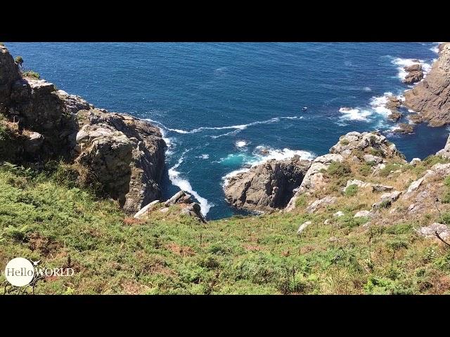 Aussicht und Weg Richtung Cabo de la Nave