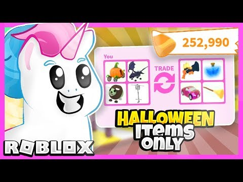 I Traded Only NEW Halloween Items in Adopt Me for 24 Hours! Roblox Adopt Me Update Trading