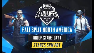 [EN] PMCO North America Group Stage Day 1   Fall Split   PUBG MOBILE CLUB OPEN 2020
