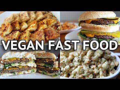 Video EASY  VEGAN FAST FOOD RECIPES (VEGAN BIG MAC!!)