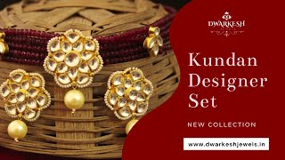 Kundan Designer Set | Kundan Designer Jewellery -Dwarkesh Jewels