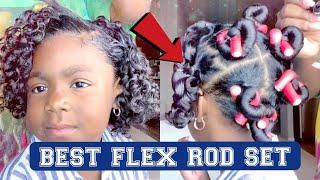 BEST Flexi Rod Set On || NATURAL HAIR ❌ NO PERM || JUICY CURLS || Cutest Kid Influencer