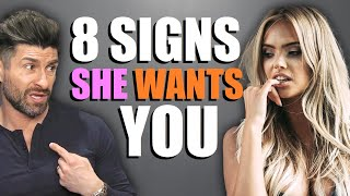 8 Body Language Signs She's Flirting with YOU! (NOT Just Being Nice)
