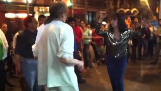 "Beautiful couple dancing to ""Oye como va!!"" in Mexico City"