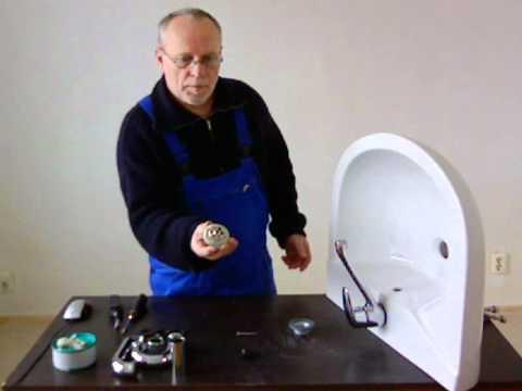 Montageanleitung  Waschbecken - Anbau Abfluss + Wasserhahn