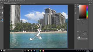 Putting an object behind another in Photoshop