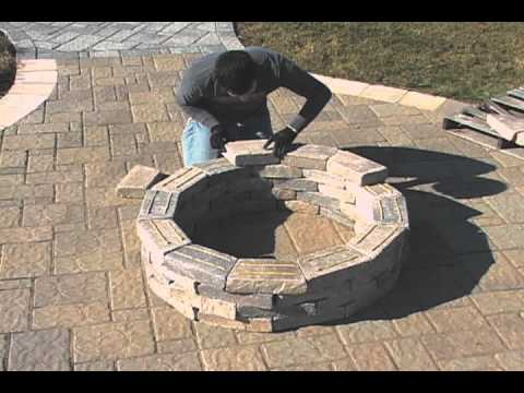 Round Fire Pit Installation