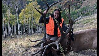 Utah Limited Entry Bull Elk Hunt - 2018 Angelina's first elk