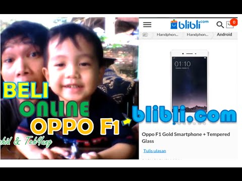 Video Cara beli online OPPO F1 di blibli dengan Methode transfer via Bank
