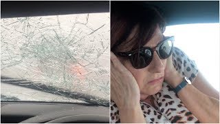 Huge hailstones smash through windscreen in Australia  | Extreme weather 2019